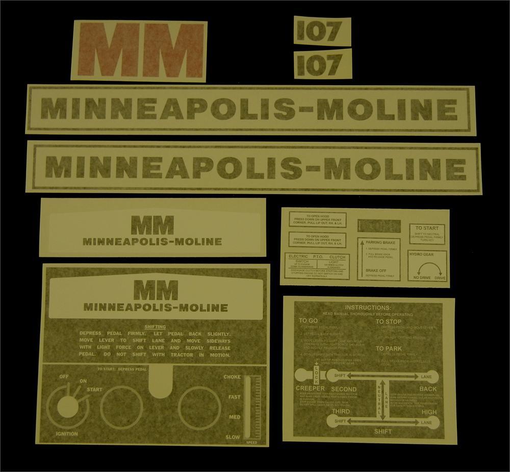 Minneapolis Moline Decals : Minneapolis moline decals